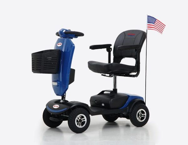 Metromibility Blue M1 Plus Portal 4-Wheel Mobility Scooter